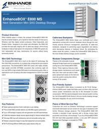 Enhance E800MS-F8TR Leaflet
