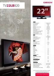 Orion TV22LB820 Leaflet