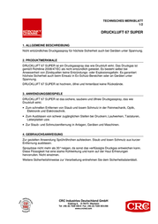 Crc Kontakt Chemie Gas duster non-flammable 85313 85313-AA 400 ml 85313-AA Data Sheet