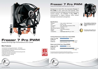 Arctic Cooling Freezer 7 Pro FREEZER7PROPWM Leaflet