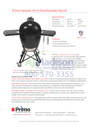 Primo 773 Specification Sheet