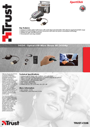 Trust Optical USB Micro Mouse MI-2650Mp 14154 Leaflet
