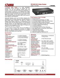 TV One 1T-VS-558 Leaflet
