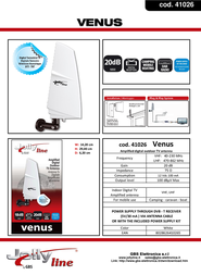 G.B.S. Elettronica Venus 41026 Leaflet