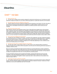 ClearOne Chat 150 Information Guide