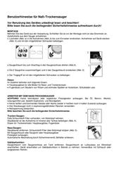Shop-Vac SUPER 30 Wet and Dry Vacuum Cleaner 1400W 30l 5973329 Data Sheet