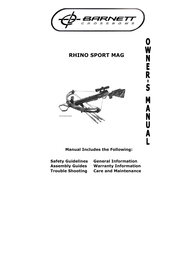 Barnett Crossbows rhino sport magnum User Manual