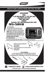 Metra 95-5818 User Manual