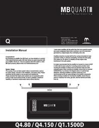 Maxxsonics Q4.150 User Manual