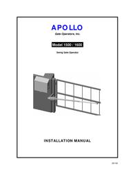 Apollo SWING GATE OPERATOR 1500 User Manual