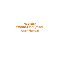 NuVision TM800A510L User Manual