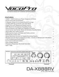 Vocopro DA-X888RV24 User Manual