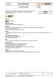 Lappkabel End connector 1.5 mm² 2.5 mm² Insulated Transparent 63112010 100 pc(s) 63112010 Data Sheet