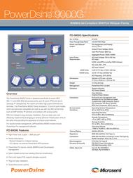 PowerDsine PD-9012G/ACDC/M Leaflet