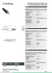 Lumberg LUM-KLS13 KLS 13 Data Sheet