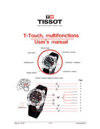 Tissot T-Touch User Manual