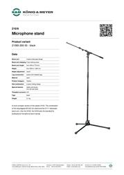 König & Meyer 210/9 21090-300-55 Leaflet