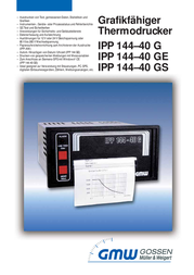 Gmw IPP144-40GE AC Graphic thermal printer IPP1444-40G - Assembly dimensions 138 x 68 mm 57400 00141 Data Sheet