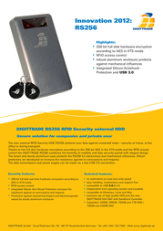 Digittrade RS256 120GB SSD DG-RS256-120SSD Leaflet