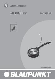 Blaupunkt A-R G 01-E 7617495142001 User Manual
