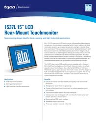 "Elo Touch Solution 15"" LCD Desktop Touchmonitor 1537L E431187 Leaflet"
