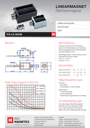 Intertec ITS-LS2924B-D-12VDC, 0.2 N - 10.22 N electromagnet, 12 Vdc 4.5 W M3 ITS-LS2924B-D-12VDC Data Sheet