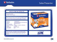 Verbatim DVD-R 4.7GB 16x 10 Pack JC 43521 Leaflet