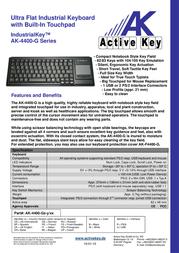 Active Key AK-4400-G AK-4400-GU-B/CH Leaflet