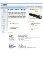 CSSN 1000 Specification Guide