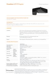 Promethean UST-P1 Leaflet