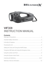 Weather X WF308 User Manual