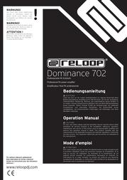 Reloop DOMINANCE 702 PA AMPLIFIER 222604 Data Sheet