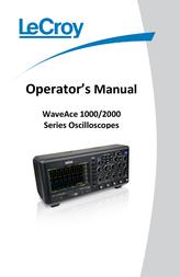 Lecroy WAVEACE 1012 2-channel oscilloscope, Digital Storage oscilloscope, WaveAce 1012 User Manual