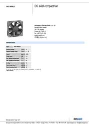 Papst 8412 NGMLE 8412 N/2GMLE Data Sheet