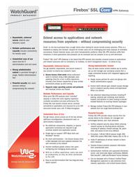 WatchGuard Firebox® SSL VPN Gateway 50 Tunnel Pack WG018013 Leaflet