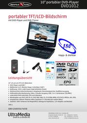 Reflexion DVD-1012 DVD1012 Data Sheet