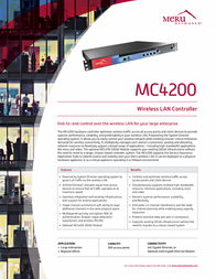 Meru Networks MC4200-EU Leaflet