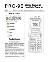 RadioShack pro-96 User Manual