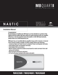 MB Quart Nautic Amplifier NAU260 Справочник Пользователя