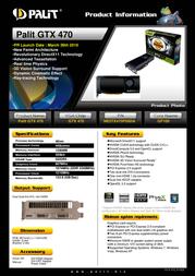 Palit GTX 470 NE5TX470F09DA Leaflet