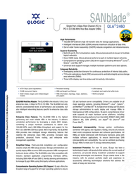 QLogic 4-Gbps single port Fibre Channel to PCI-X 2.0 host bus adapter, multi-mode optic QLA2460-CK Leaflet