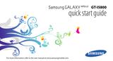 Samsung GT-I5800 Quick Setup Guide