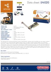 Sitecom Network PCI card 10/100 Mbps LN-020 Leaflet