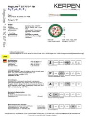 Kerpen network cable (RJ45) CAT 6 S/FTP Grey K8210GR.5 Data Sheet