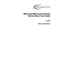 Velocity Micro MS-3 User Manual