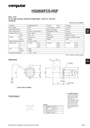 Computar 8 mm f/ 0.8 CS Lens Manual