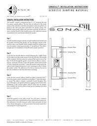 Sonance Sonafill Acoustic Damping Material Leaflet