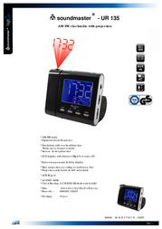 Soundmaster UR 135 UR-135 Leaflet