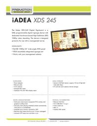 Iadea XDS-245 Leaflet