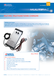 Emrol MultiPac - 30A Lead Acid Battery Charger Station, For 6, 12, 24V Batteries MULTIPAC Information Guide